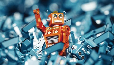 Roboter-Heinzelmännchen arbeiten im Schwarm