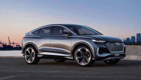 Audi Q4 e-tron Sportback: Audi enthüllt Sportvariante seines kommenden Elektro-SUV Q4
