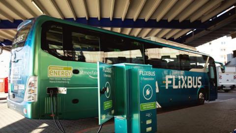Flixbus nimmt ersten E-Fernbus in Deutschland in Betrieb