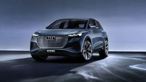 Audi Q4 e-tron Concept: Kraftpaket mit Temposperre