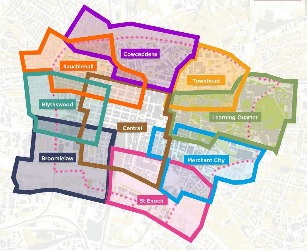 districtmap Glasgow City Centre Strategy