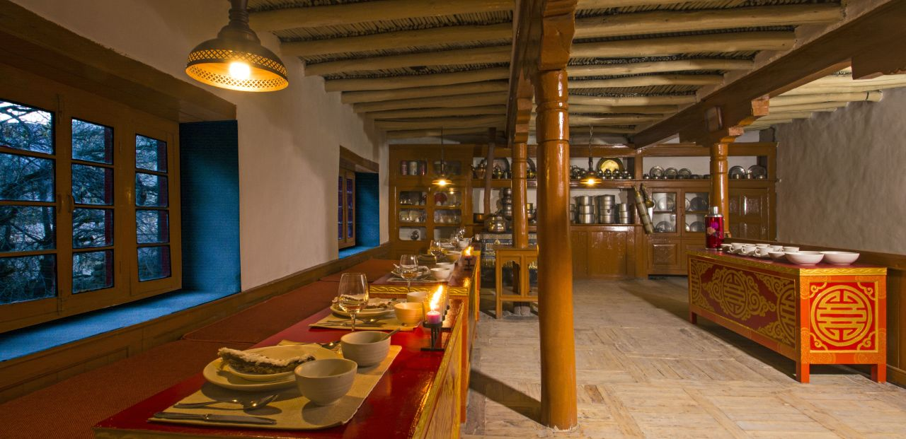 Ladakhi Kitchen at Woodyvu Stok House, Leh