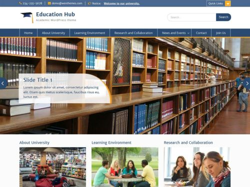 Education Hub - WordPress Theme