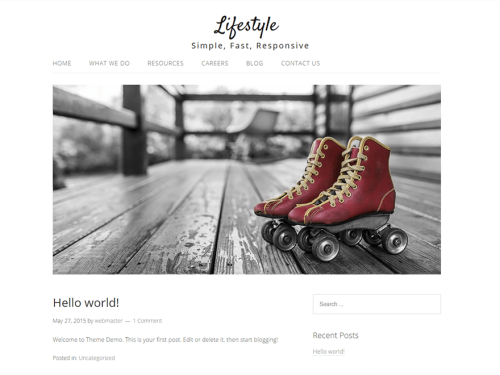 Lifestyle - WordPress Theme