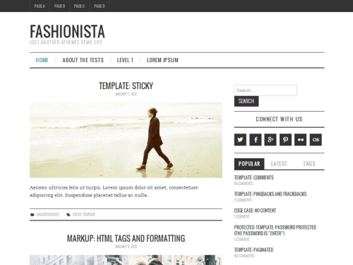 Fashionistas - WordPress Theme
