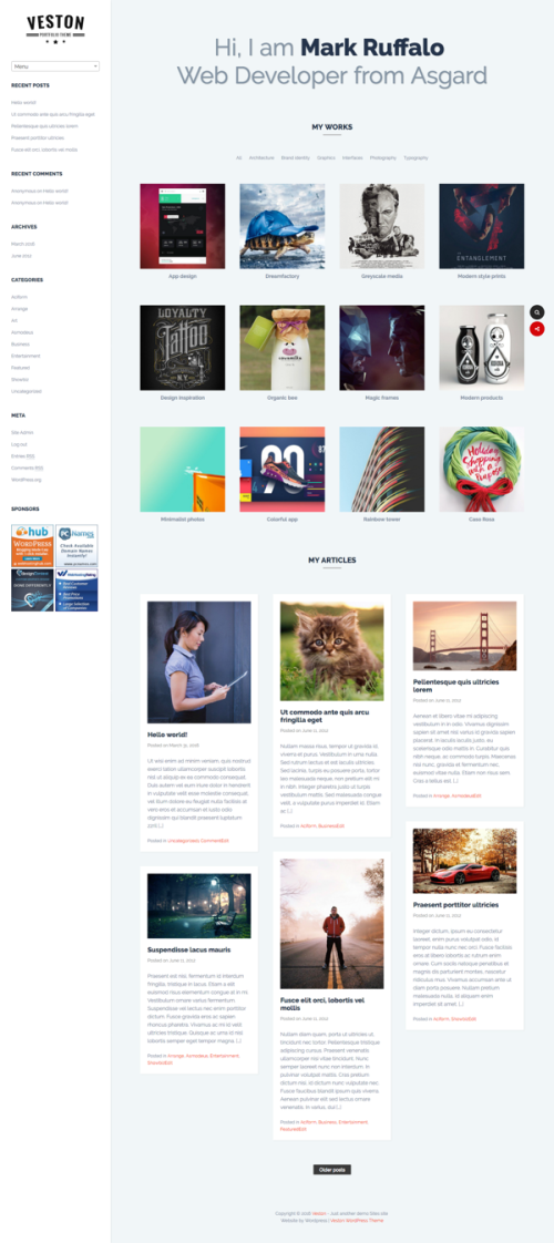 Veston WordPress theme by Fabthemes