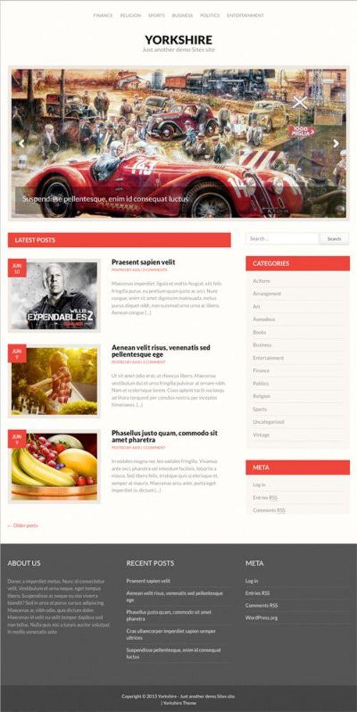 Yorkshire WordPress theme by Fabthemes