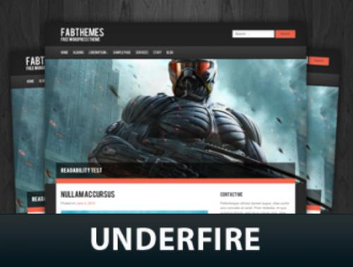 Underfire WordPress theme by Fabthemes