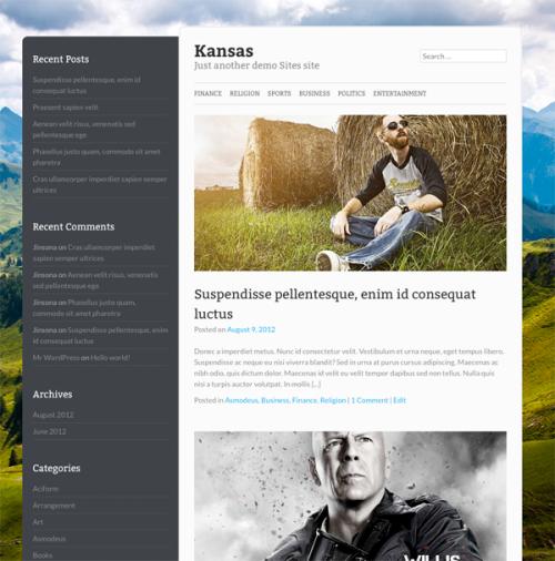 Kansas WordPress theme by Fabthemes