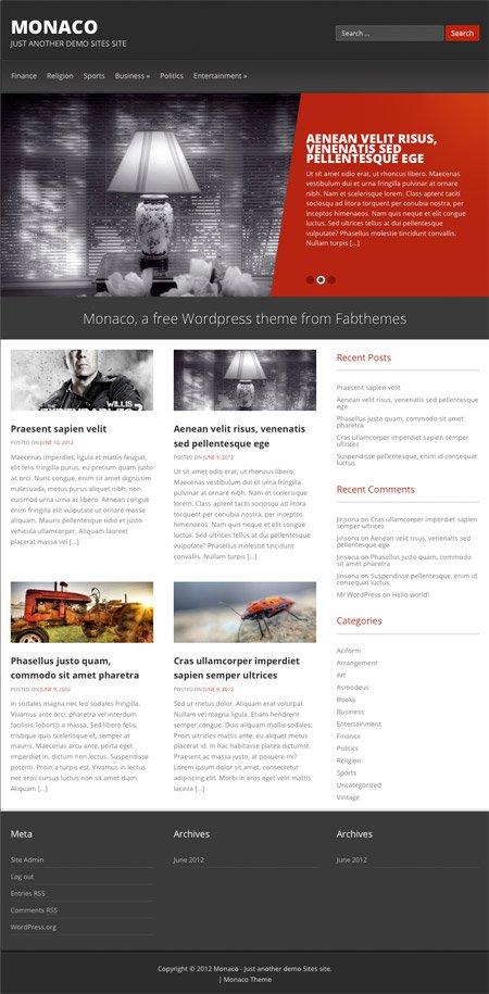 Monaco WordPress theme by Fabthemes