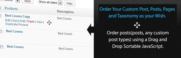 Simple Custom Post Order Plugin - WordPress Theme