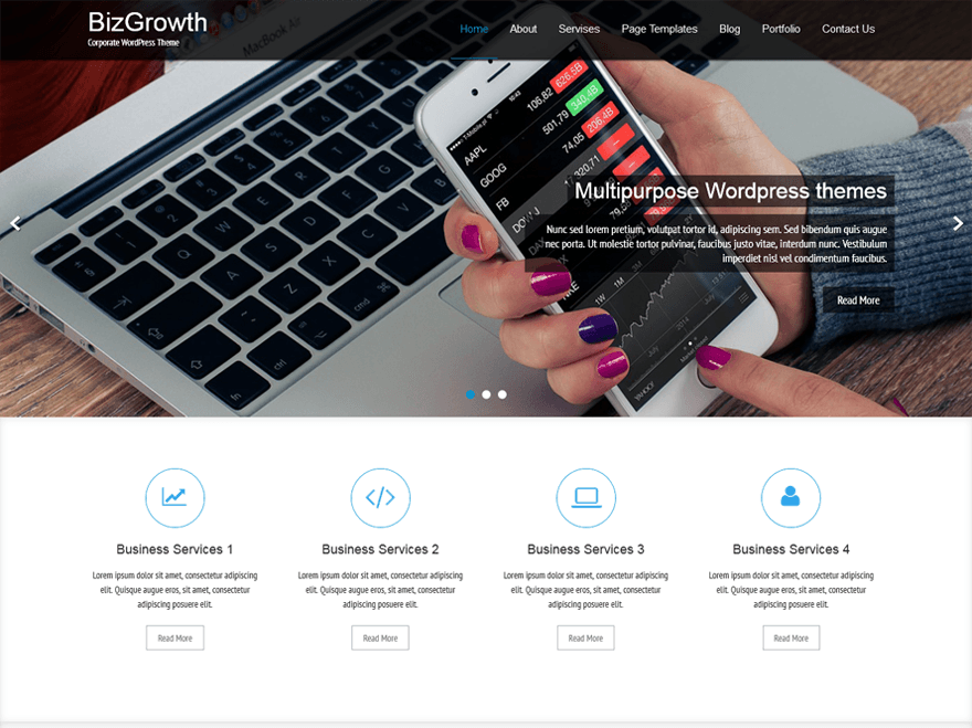 Bizgrowth Corporate WordPress Theme - WordPress Theme