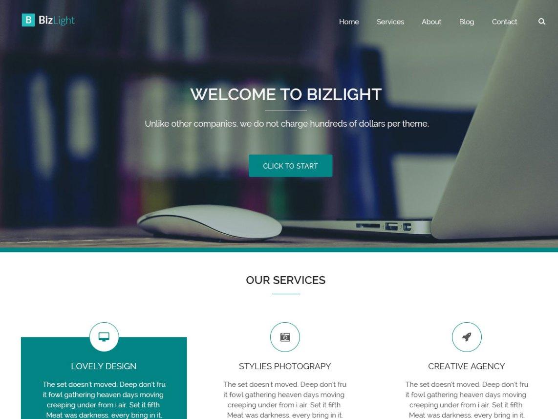 Bizlight Clean Elegant lightweight WordPress Theme - WordPress Theme