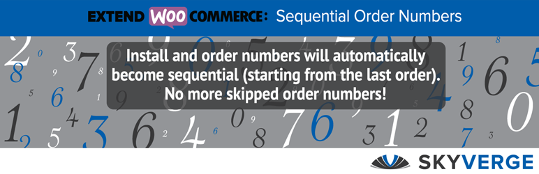 Woocommerce Sequential Order Numbers - WordPress Theme