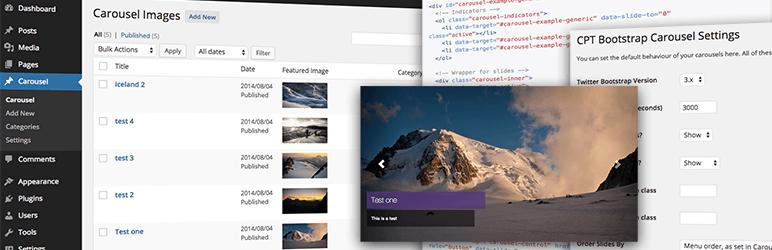 Cpt Bootstrap Carousel - WordPress Theme