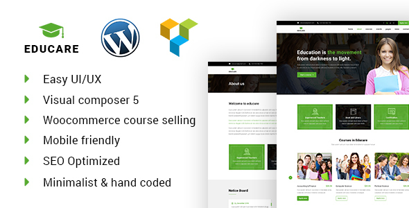 Educare Learning Amp Academy WordPress Theme - WordPress Theme