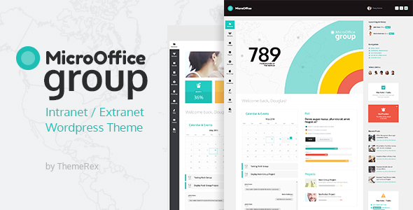 Micro Office Intranet And Extranet WordPress Theme - WordPress Theme