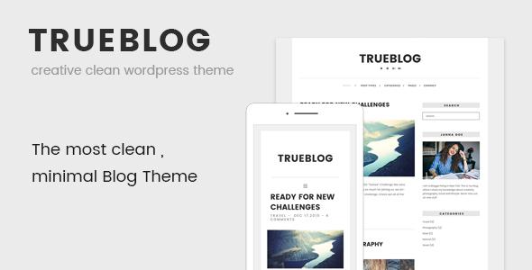 Trueblog Clean WordPress Theme - WordPress Theme