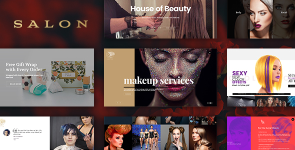 Salon WordPress Theme For Hair Beauty Salons - WordPress Theme