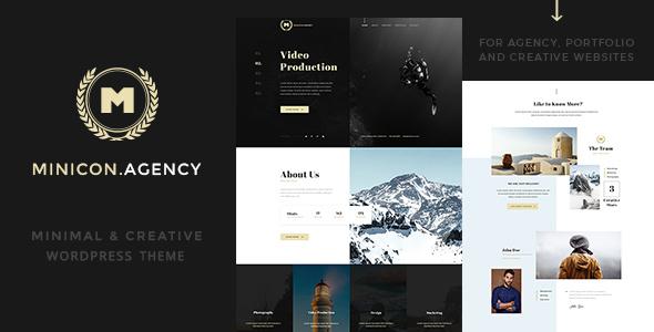 Minicon Minimal Creative WordPress Theme - WordPress Theme