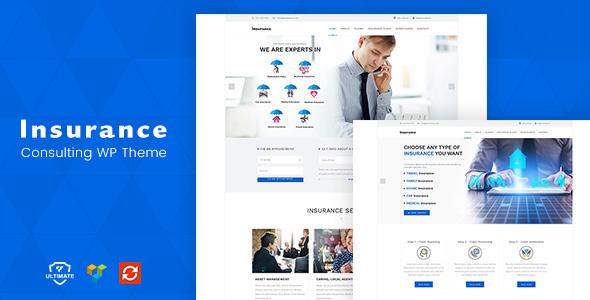 Insurance Consulting WordPress Theme - WordPress Theme