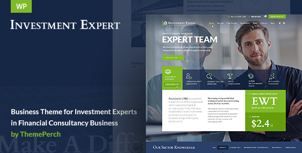 Investment Expert Business Theme For Investment Experts In Financial Consultancy - WordPress Theme