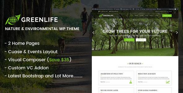 Greenlife Nature Environmental Wp Theme - WordPress Theme