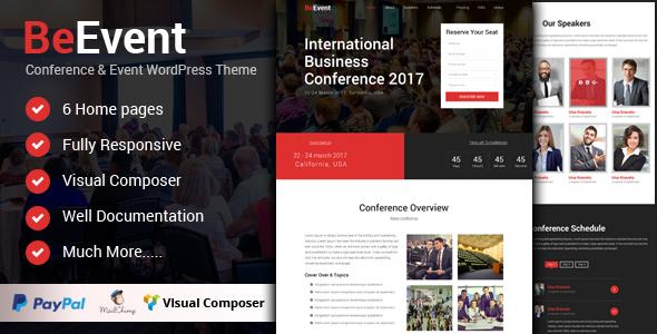 Beevent Conference Event – WordPress Theme - WordPress Theme