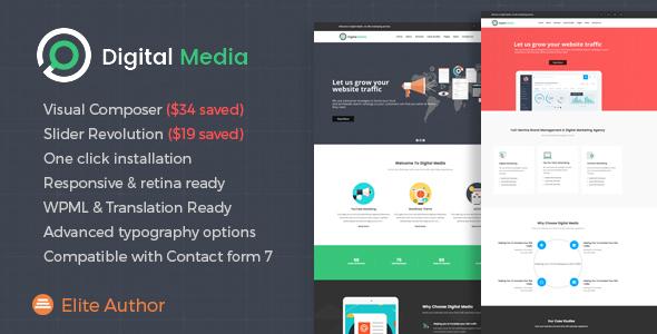 Digital Media Digital Marketing WordPress Theme - WordPress Theme