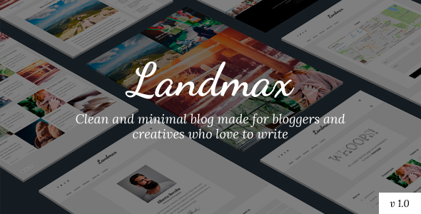 Landmax Wp Minimal Blog Theme - WordPress Theme