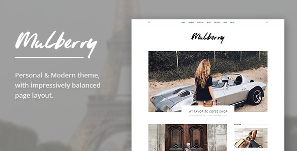 Mulberry Modern WordPress Blog Theme - WordPress Theme