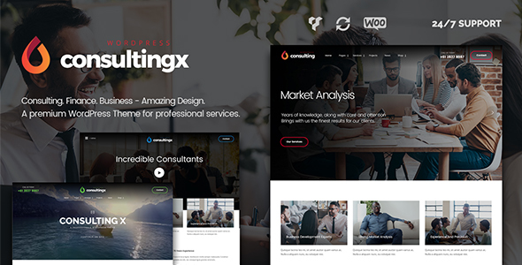 Consulting X Consulting WordPress Theme For Consulting Finance  Business Consulting - WordPress Theme