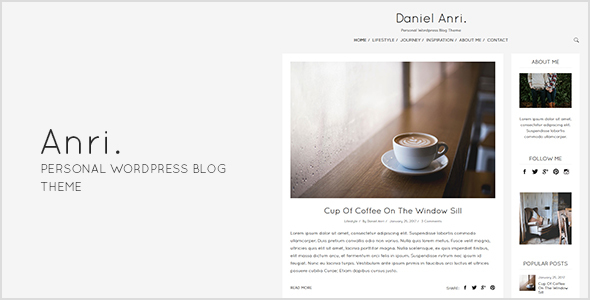 Anri Personal WordPress Blog Theme - WordPress Theme