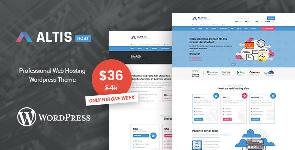 Altis Professional Hosting WordPress Theme - WordPress Theme