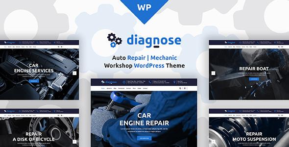 Diagnose Auto Repair Mechanic Workshop WordPress Theme - WordPress Theme