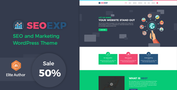 Seoexp Marketing Seo WordPress Theme - WordPress Theme