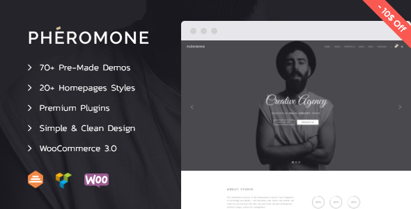 Pheromone Creative Multi Concept WordPress Theme - WordPress Theme