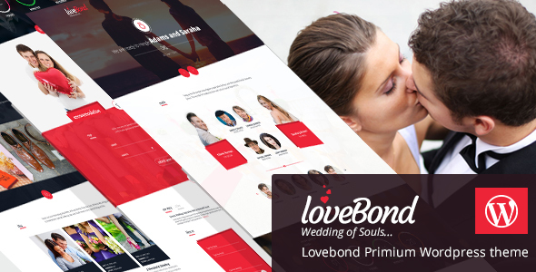Lovebond Wedding And Wedding Planner WordPress Theme Responsive And Elegant - WordPress Theme