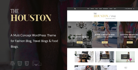 The Houston Magazine Theme - WordPress Theme