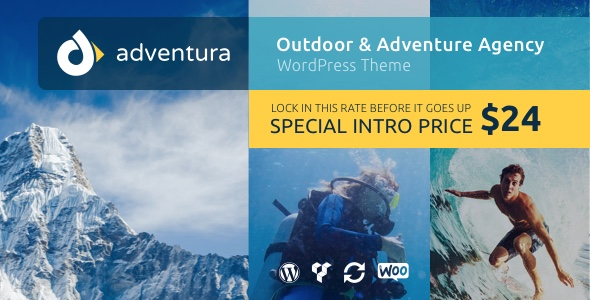 Adventura Outdoor Adventure Agency WordPress Theme - WordPress Theme
