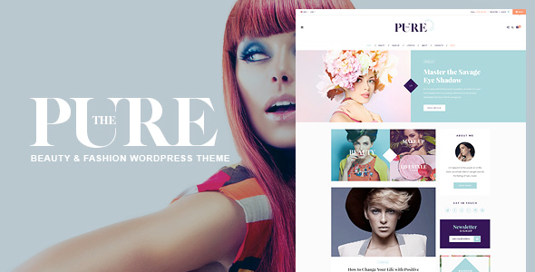 Pure Fashion And Lifestyle WordPress Theme For Blogging - WordPress Theme