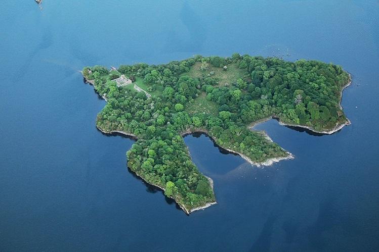 vista aérea isla de innisfallen