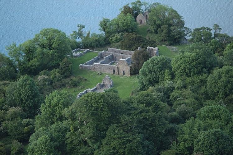 vista general de la abadía de innisfallen