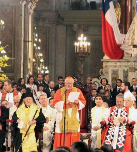 Tedeum: Con alusión al Papa Francisco, cardenal Ezzati llama a acoger e integrar a los migrantes