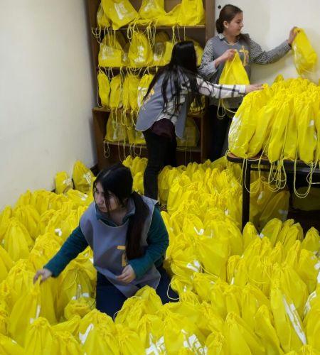 Todo listo para comenzar la distribución de material preparatorio para la visita del Papa
