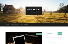 Hemingway - A Bold And Beautiful Free WordPress Theme
