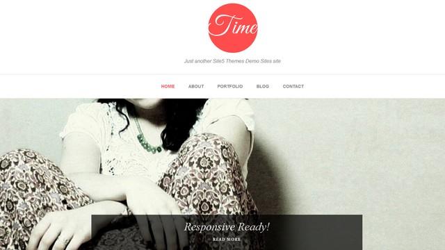 Time – A Free Responsive WordPress Theme