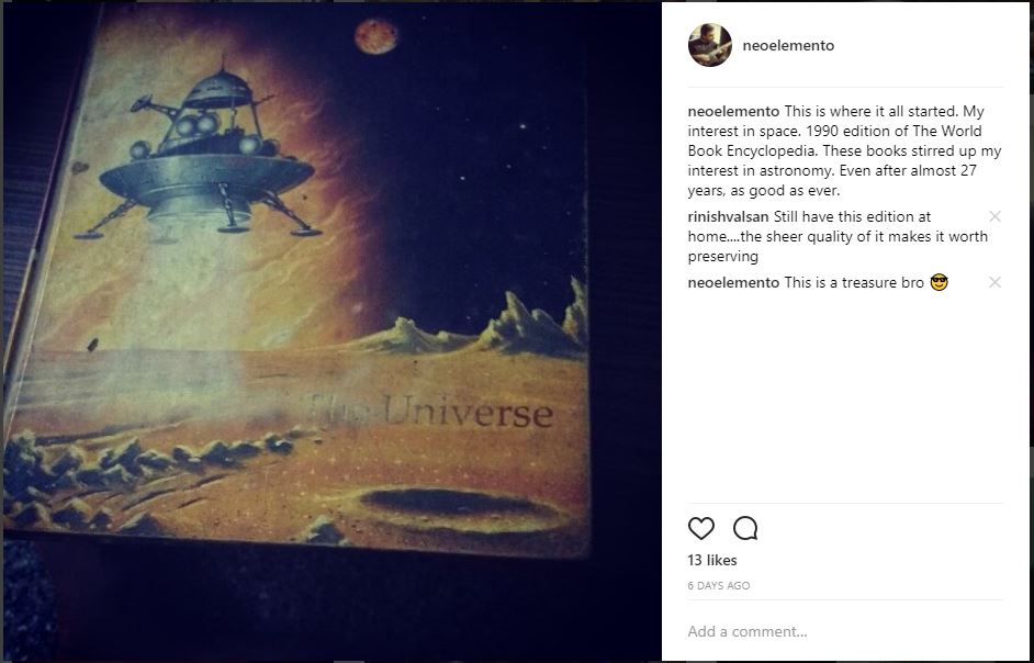 Vishnu's instagram post