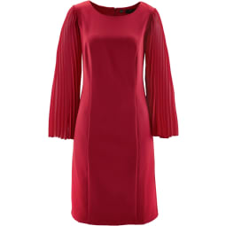 Kleid mit Plissee-Ärmeln