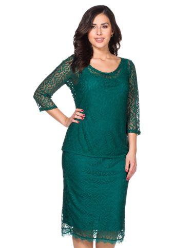 Style Spitzenshirt, opalgrün, Gr.40/42-56/58
